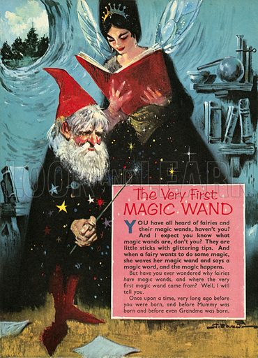 The very first magic wand.  Illustration from Teddy Bear magazine.