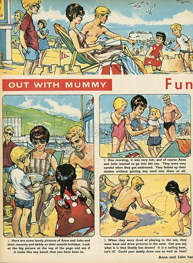 Out with mummy, from Teddy Bear magazine.