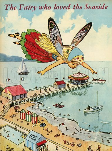 The fairy who loved the seaside.  Illustration from Teddy Bear magazine.