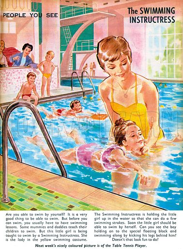 People You See: The Swimming Instructress. From Teddy Bear (13 July 1968).