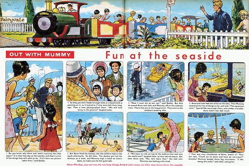 Out With Mummy: Fun at the Seaside. From Teddy Bear (24 August 1968).