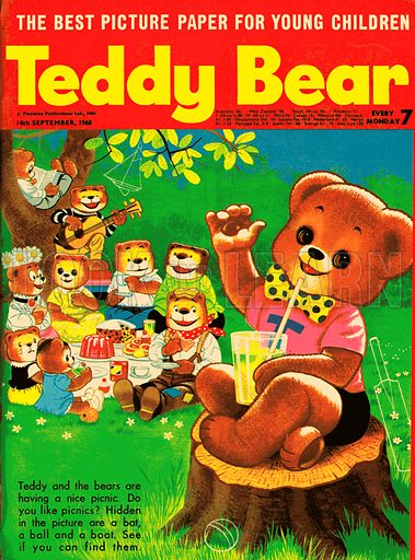 Teddy Bear. Cover illustration from Teddy Bear, 14 September 1968.
