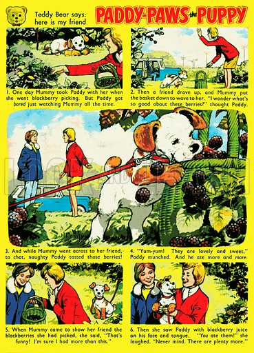 Paddy-Paws. Comic strip from Teddy Bear, 28 September 1968.