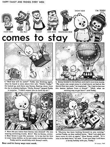 Teddy Bear. Comic strip from Teddy Bear (4 January 1969).