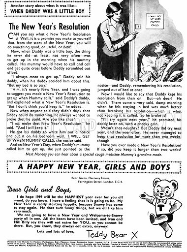 When Daddy Was a Little Boy. Feature from Teddy Bear (4 January 1969).