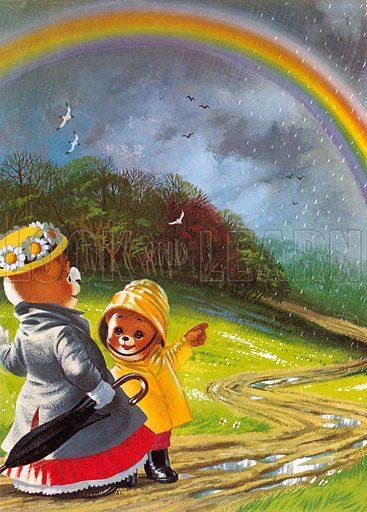 Teddy Bear. Illustration from story in Teddy Bear Annual 1978.