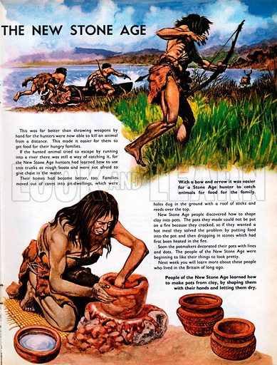 The Wonderful Story of Britain: People of the New Stone Age.