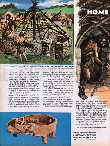 The Wonderful Story of Britain: Home life in the Stone Age.