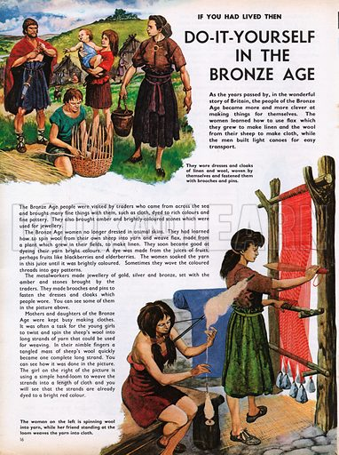 The Wonderful Story of Britain: Do-it-Yoursef in the Bronze Age. Bronze Age crafts.