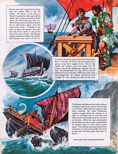 The Wonderful Story of Britain: Roman and Phoenicians sailors.