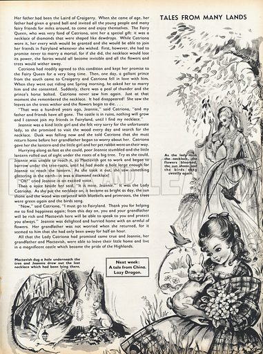 Two scenes from the Scottish fairy-tale The Lady of Craigarry.
