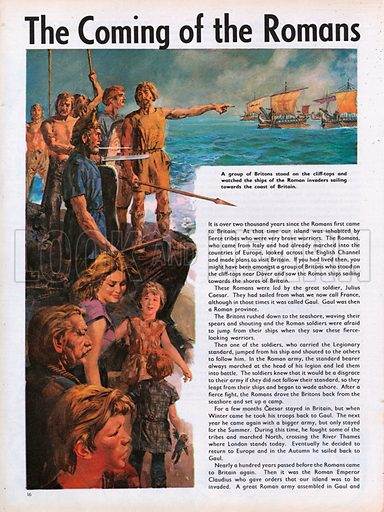 The Wonderful Story of Britain: The Coming of the Romans to Britain.