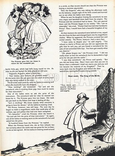 Two scenes from The Spoilt Princess by Hans Christian Andersen.