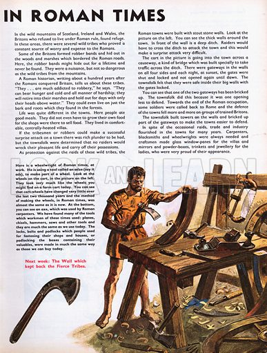 The Wonderful Story of Britain: A Town in Roman Times. A wheelwright in Roman times.