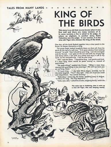 A scene from the folk-tale King of the Birds.
