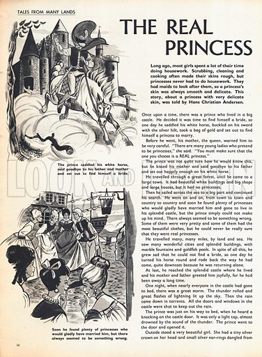 Two scenes from the story The Real Princess by Hans Christian Andersen, the great Danish writer.