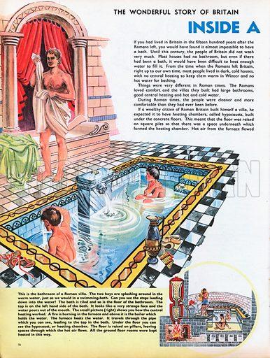 The Wonderful Story of Britain: Inside a Roman Villa. The bathroom of a Roman Villa.