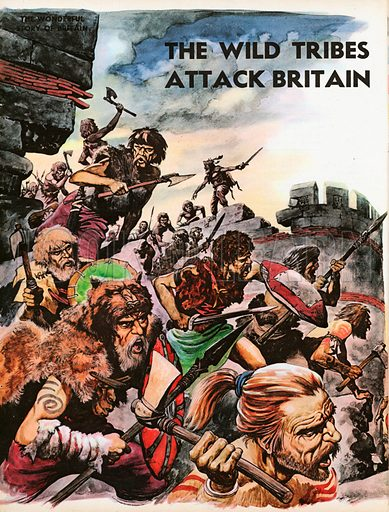 The Wonderful Story of Britain: The wild tribes attack Britain destroying Hadrian's Wall.