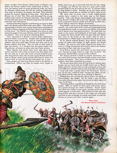 The Wonderful Story of Britain: The Legend of King Arthur. Saxons face King Arthur and his men.