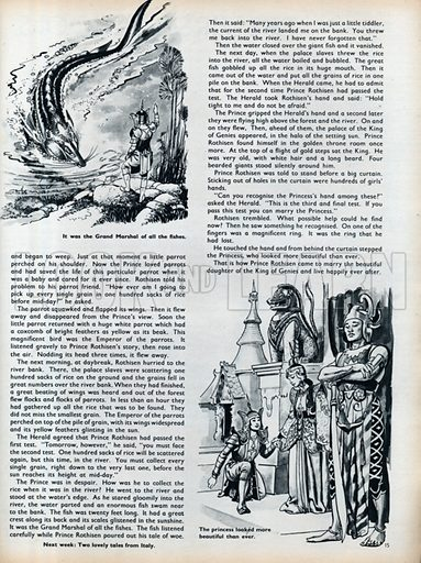 Two scenes from The Prince's Lost Ring.