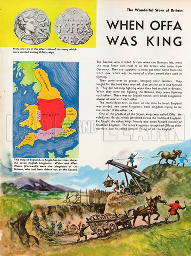 The Wonderful Story of Britain: When Offa Was King. King Offa watches his dyke being built.