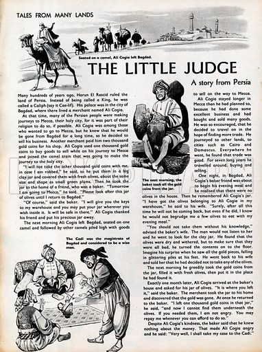 Three scenes fom The Little Judge, a story from Persia.