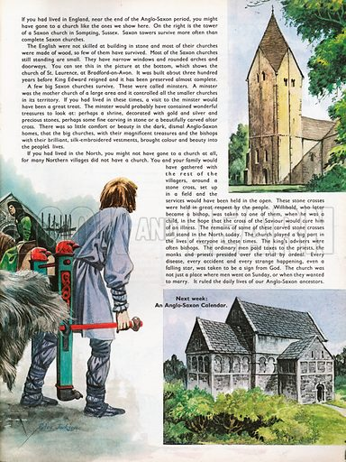 The Wonderful Story of Britain: King Edward the Saint. Saxon church in Sompting, Sussex, and the Church of St Laurence at Bradford-on-Avon.