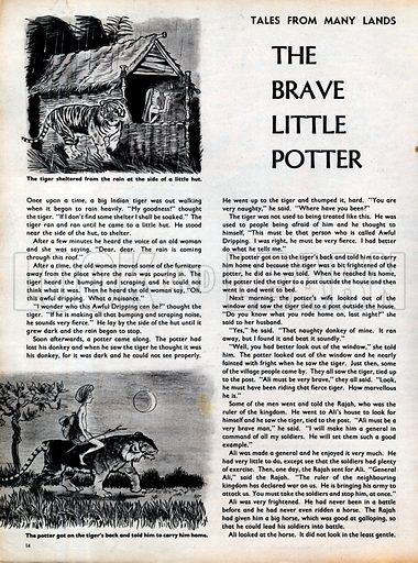 Scenes from the Indian folk-tale The Brave Little Potter.
