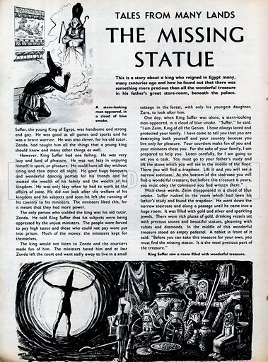 Scenes from the Ancient Egyptian folk-tale The Missing Statue.