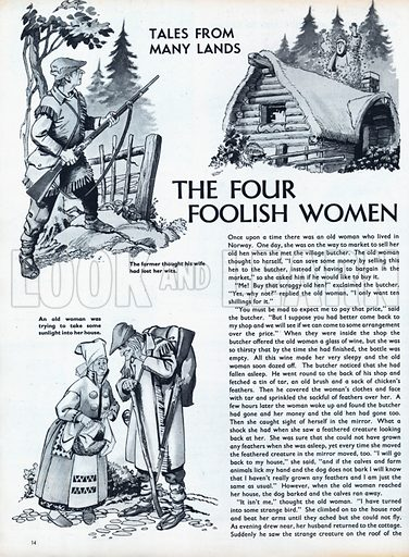 Scenes from the Norwegian folk-tale The Four Foolish Women.