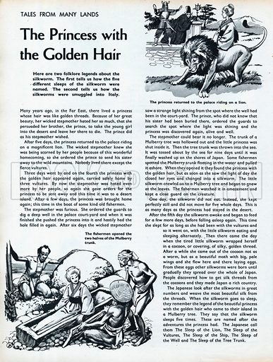 Scenes from the Far Eastern folk-tale The Princess with the Golden Hair.