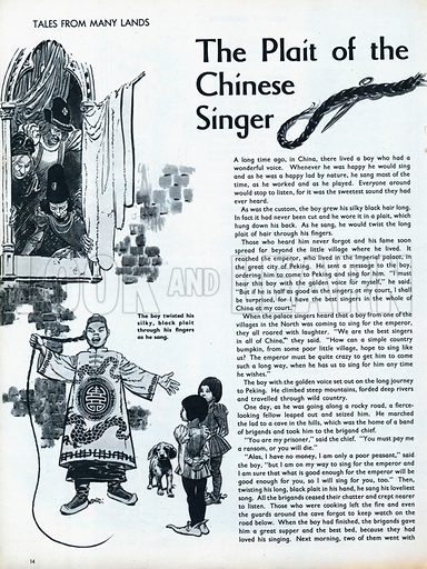 Scenes from the Far Eastern folk-tale The Plait of the Chinese Singer.