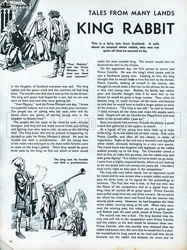 Scenes from the Scottish folk-tale King Rabbit.