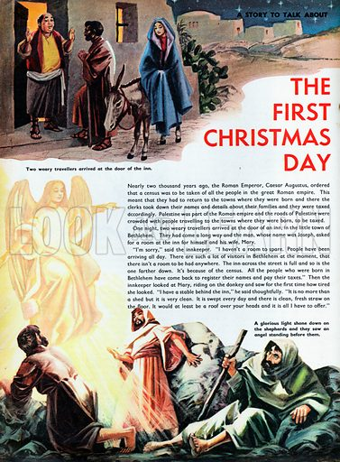 The first Christmas Day.