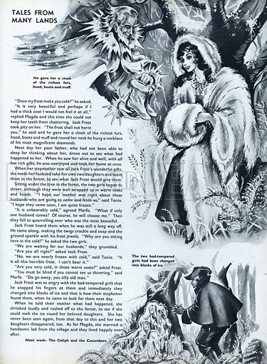 Scenes from the Russian folk-tale The Frost Maiden.