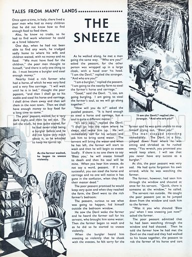 Scenes from the North European folk-tale The Sneeze.