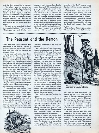 Scenes from the North European folk-tale The Peasant and the Demon.