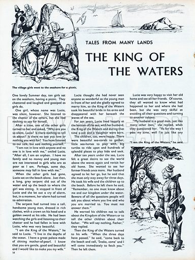 Scenes from the North European folk-tale The King of the Waters.