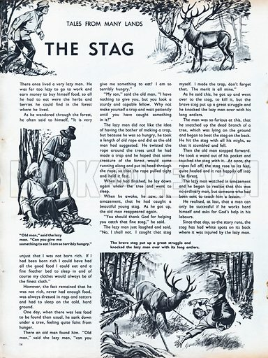 Scenes from the North European folk-tale The Stag.