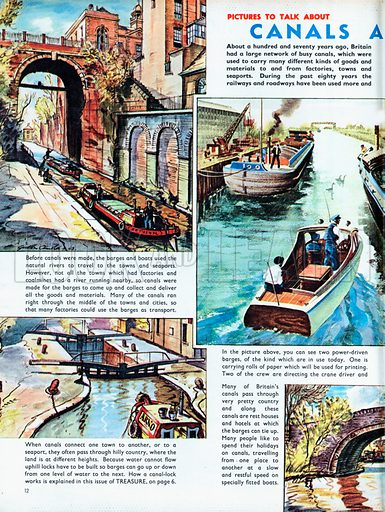 Canals and Barges.