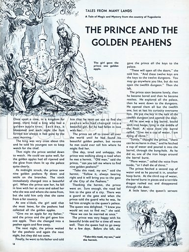 Scenes from the Yugoslavian fairy-tale The Prince and the Golden Peahens.