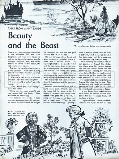 Scenes from the North European folk-tale Beauty and the Beast.