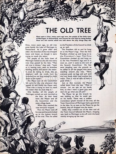 Scenes from the Swiss folk-tale The Old Tree.
