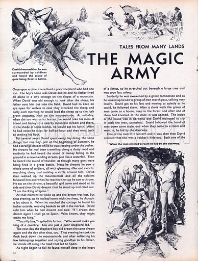 Scenes from the North European folk-tale The Magic Army.