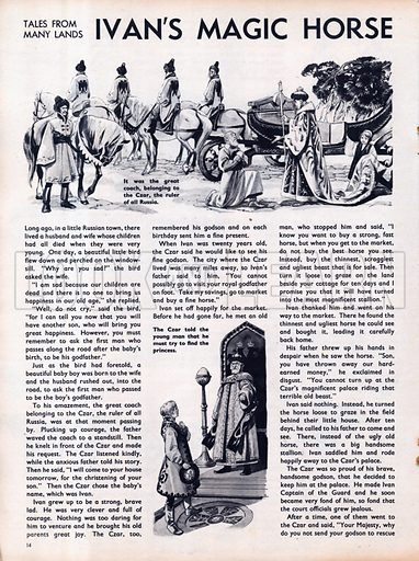 Scenes from the Russian folk-tale Ivan's Magic Horse.