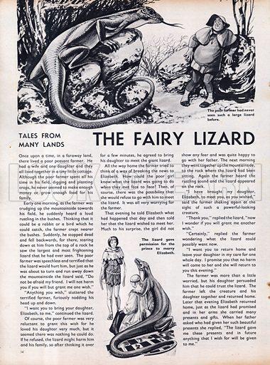 Scenes from the North European folk-tale The Fairy Lizard.