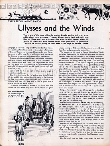 Scenes from the Greek legend Ulysses and the Winds.