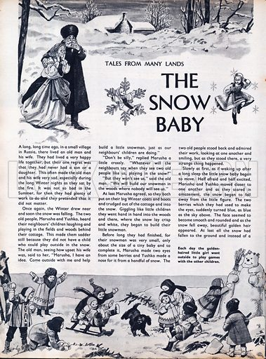 Scenes from the Russian folk-tale The Snow Baby.