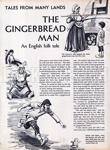 Scenes from the English folk-tale The Gingerbread Man.