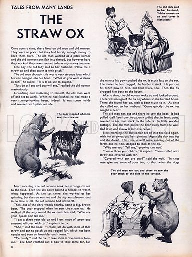 Scenes from the North European folk-tale The Straw Ox.